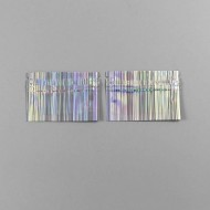 "3.0"" x 2.0"" O.D. Holographic (striped) Open on the zipper end (3 side seal) - 034UHGM04OZE"