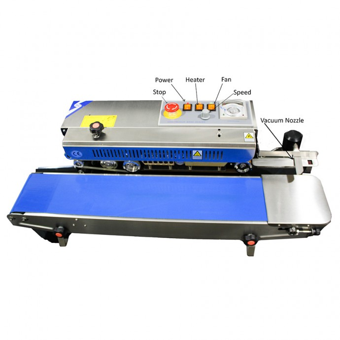 VakRapidVS Stainless Steel Band Sealer - Vacuum - Left to Right - RSH1525SSVLR