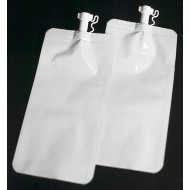 "SP20MLVF4W:  2.875"" x 5.75"" OD White SpoutPak™ Bag with Unique Cap Style, 2 fl. oz. (1000/case)"