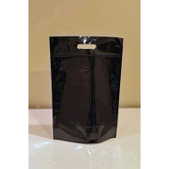 "15"" x 21.5"" x 7"" OD Black Mylar Foil Stand up pouch; (100/case) - R70MB07ZH"