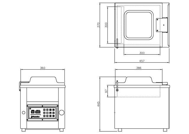 chtc-280f  chamber vacuum sealer